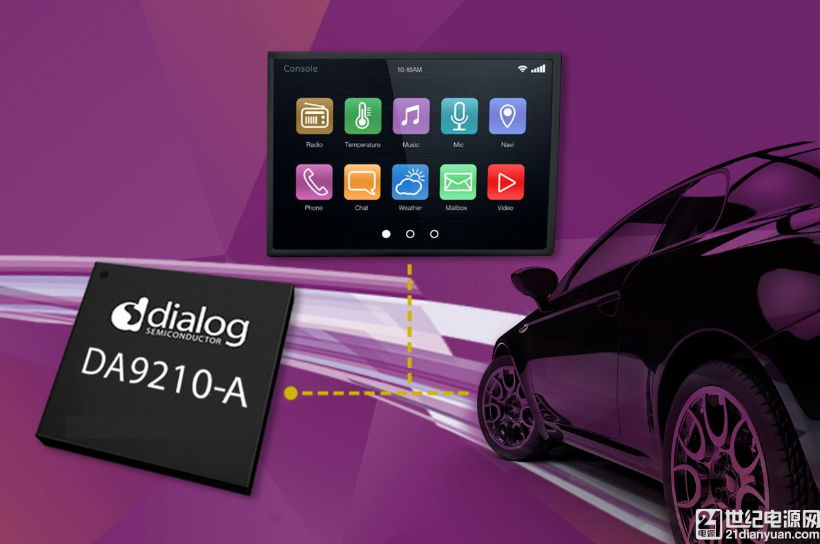 Dialog公司推出满足下一代联网汽车需求的新型...