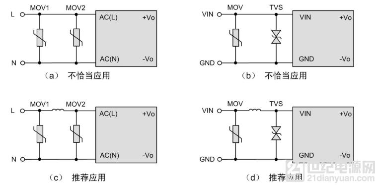 提高电源模块可靠性的应用电路