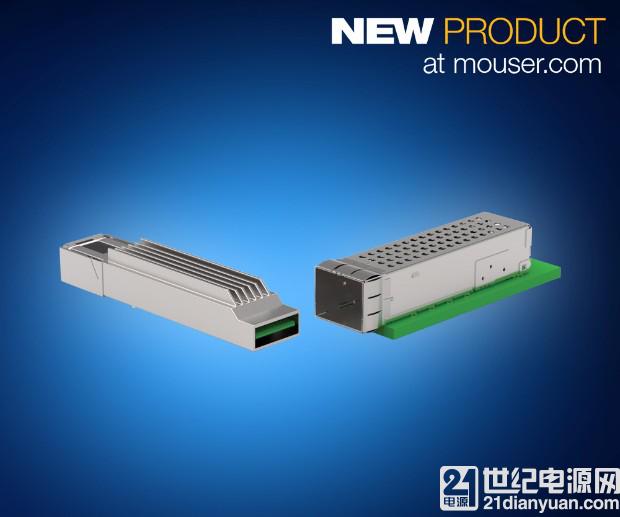 TE Connectivity microQSFP 互连解决方案在贸泽开售