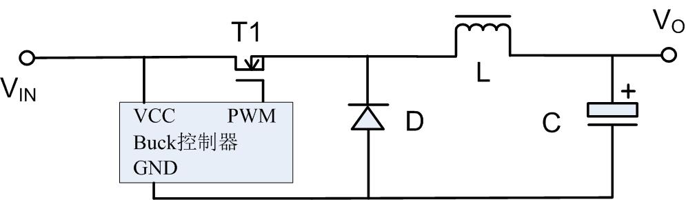 图1  经典 buck 拓扑电路
