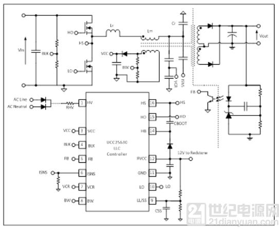 使用 LLC 谐振控制器来加速器件运行