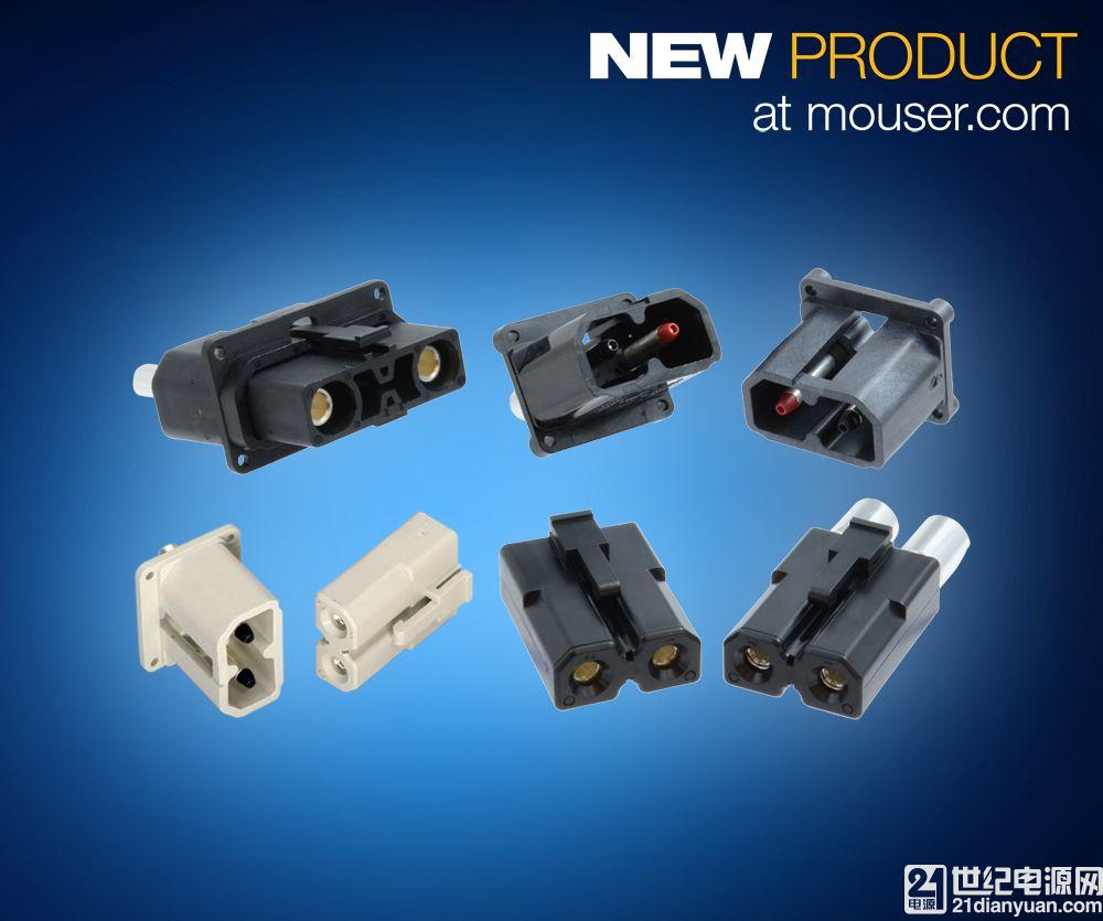 Amphenol 高电流、低温升 Amphe-PD 系列连接器在贸泽开售