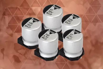 Vishay 推出新的导电和混合导电铝聚合物电容器
