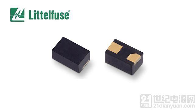 Littelfuse 推出业内封装尺寸最小的单向瞬态抑制二极管阵列, 可保护 I/O 和电源端口免于 ESD 损坏