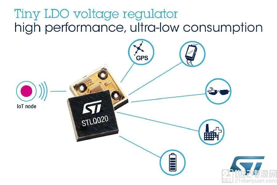 意法半导体推出封装小、性能强的低压差稳压器创新产品