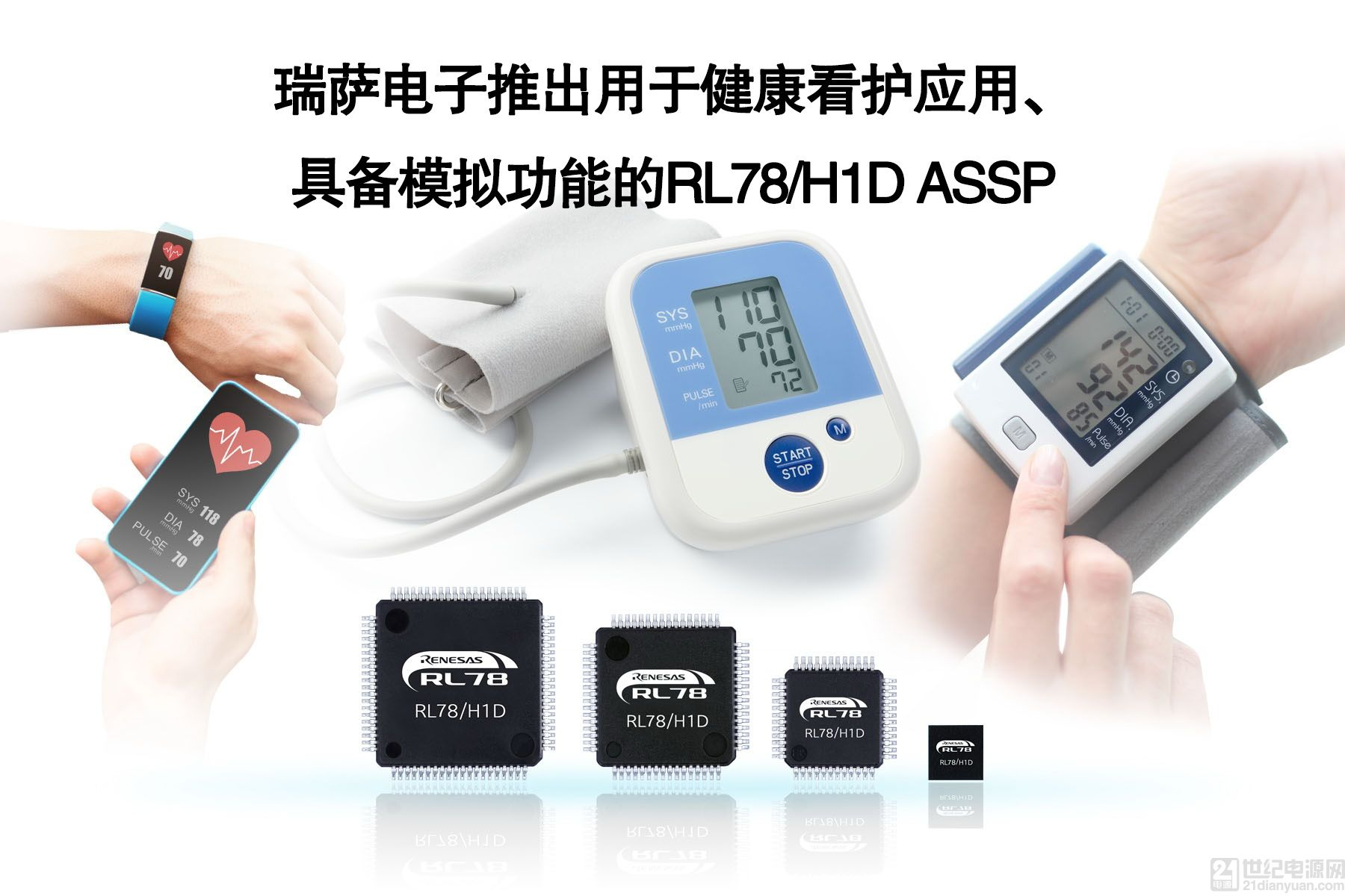 瑞萨电子推出支持即时评估的血压监测评估套件