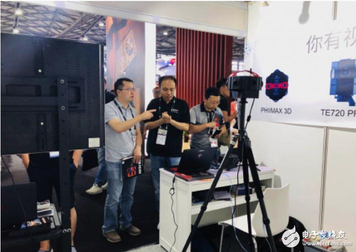 泰科易在CES Asia 2018展会现场正式推出旗舰新品——PHIIMAX 3D,首款能够提供二次开发支持的商用级全景相机