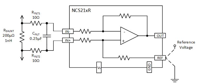 电流检测放大器输入和输出滤波