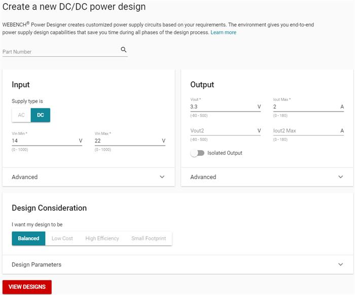 全新的 WEBENCH® 电源设计器将更加易于使用