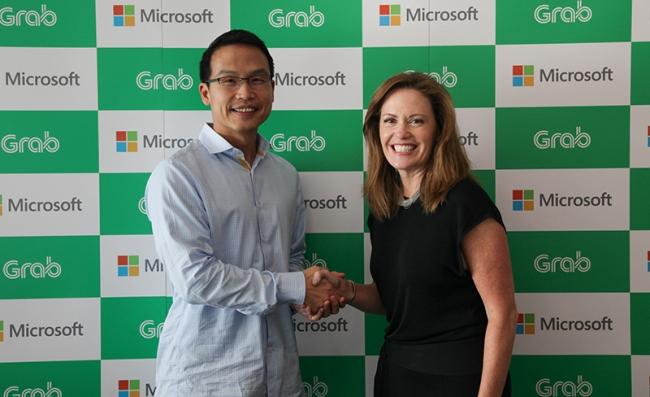 Grab 与微软建立战略合作关系 推动东南亚数字服务的创新和应用