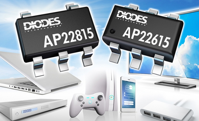 Diodes 公司的 USB 端口专用高侧电源切换器 涵盖电力传输与快速用途切换