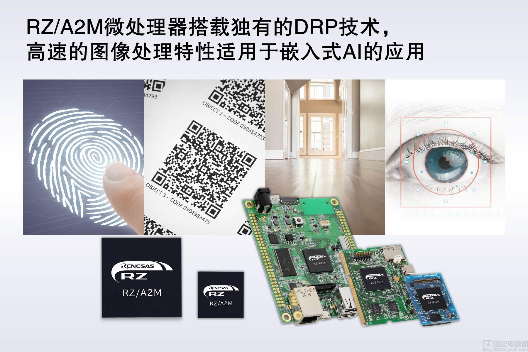 瑞萨电子针对智能家电、服务机器人及工业机械领域,推出可实现高速图像处理和嵌入式人工智能应用的 RZ/A2M 微处理器