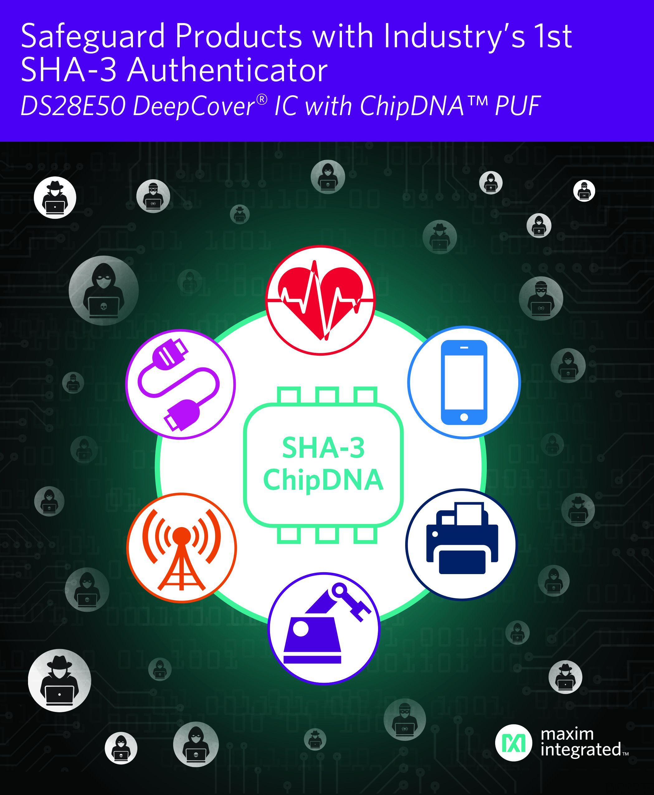 Maxim 发布业界首款支持 SHA3-256 加密引擎的安全认证器 IC