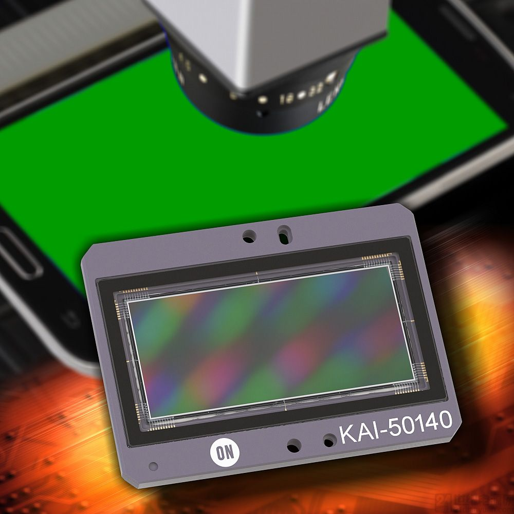 安森美半导体的5000万像素 ccd 图像传感器应用于智能手机显示屏检测