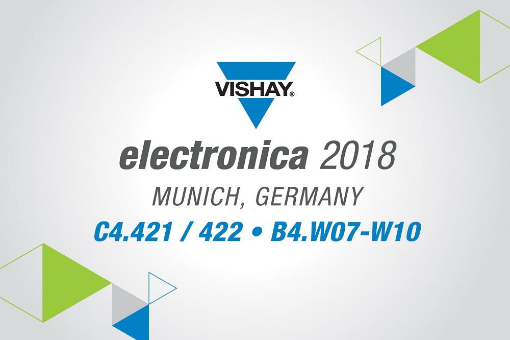 Vishay 携最新行业领先技术亮相德国2018年慕尼黑电子展
