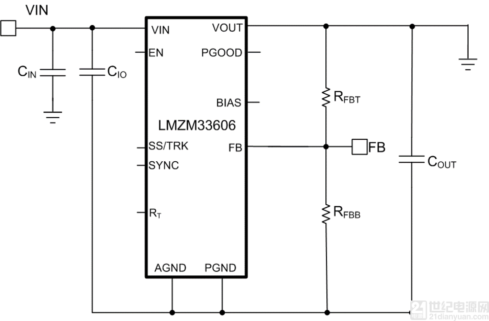 时,可以实现-15V至-5V的可编程输出电压范围。通过电流源方法,您能够以绝对量级调低稳压器的输出。这样,在设置反馈分频器电阻器时,便可以将设计的默认输出设为-15V。添加外部电流源时,您可以将稳压器输出设置为-5V。默认输出为-15V时,计算的高反馈值和低反馈值分别为: · RFBT = 100k.