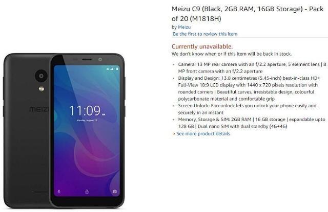 魅族 C9将登陆印度市场,搭载紫光展锐四核处理器