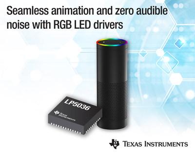 德州仪器推出世界首创12位 29-kHz RGB LED 驱动器系列