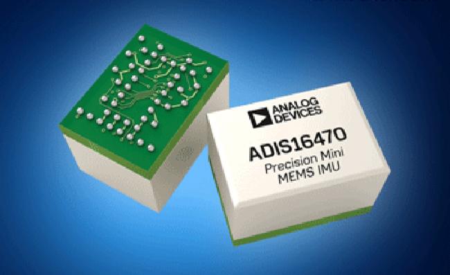 Analog Devices ADIS1647x 微型工业 IMU 在贸泽开售 可改善物联网设备的导航功能