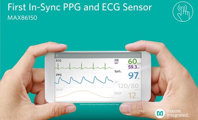 Maxim 发布业界首款适用于移动设备的 PPG 和 ECG 生物传感器模块