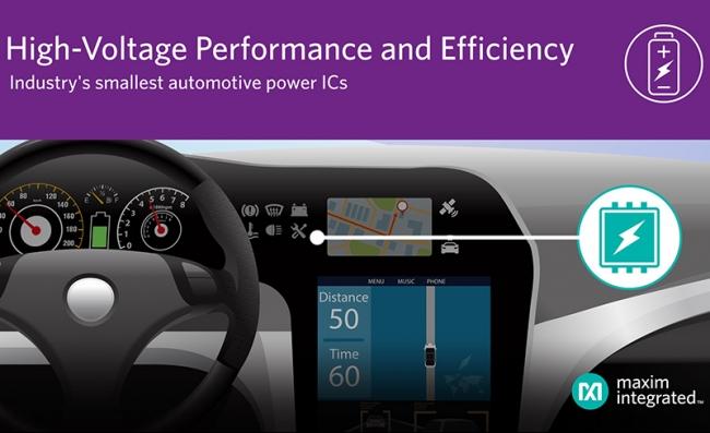 Maxim 发布最新 buck 转换器及控制器,为汽车高压供电提供最小尺寸、最高效率方案