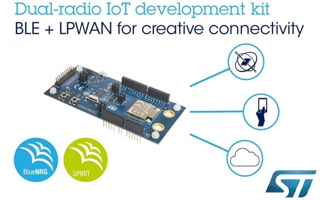 意法半导体双射频 Bluetooth®LPWAN 物联网开发套件实现智设备创新连接