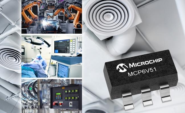 美国微芯科技公司(Microchip Technology Inc.)推出 MCP6V51 零漂移运算放大器