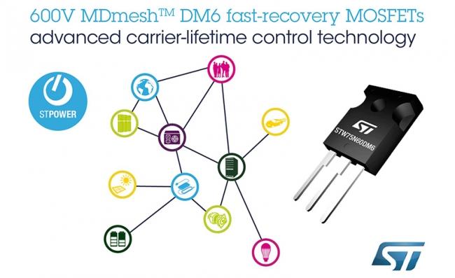 意法半导体快速恢复的超结 MOSFET 为电桥和 ZVS 转换器带来卓越性能
