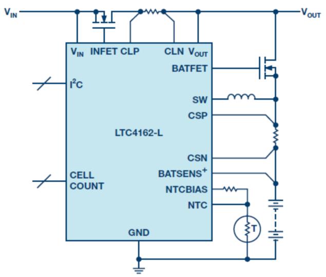 适用于任何化学物的简单电池充电器 IC