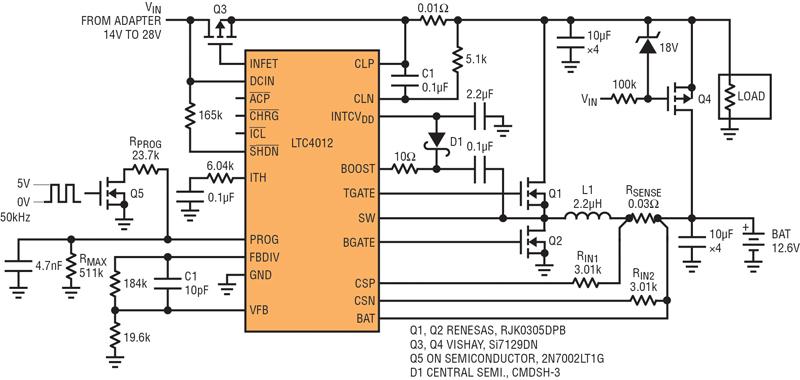 电池充电器应用中的充电电流调制