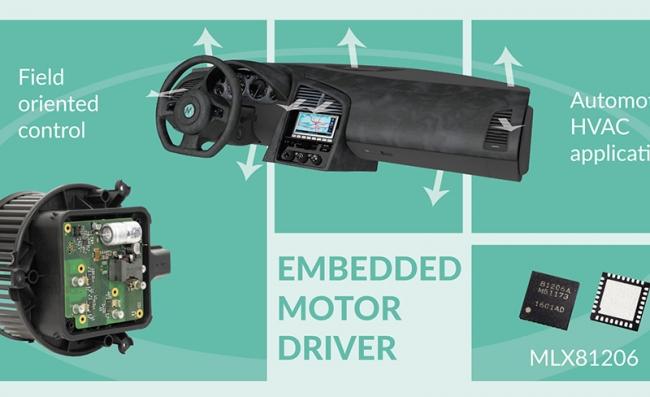 Melexis 面向汽車應用的智能嵌入式電機驅動產品系列再添新成員