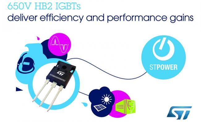 意法半导体 650V 高频 IGBT 利用最新高速开关技术提升应用性能