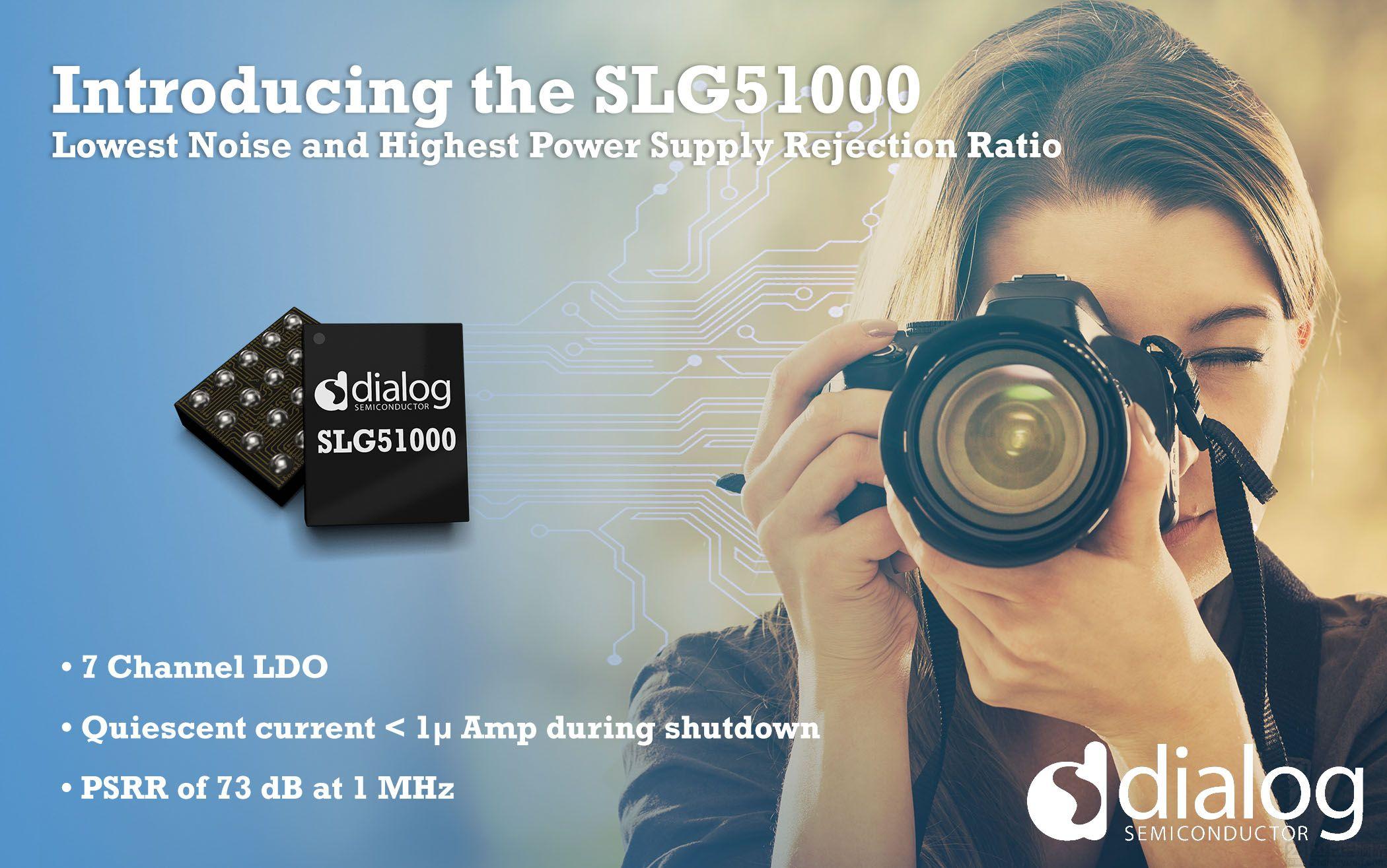Dialog 公司推出具有最低绝对噪声和最高电源抑制比性能的可配置多通道低压差线性稳压器