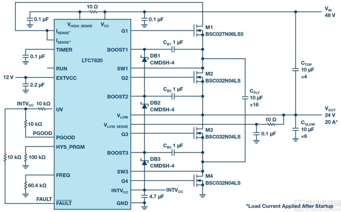 面向高功率应用的高效率、高密度开关电容电源