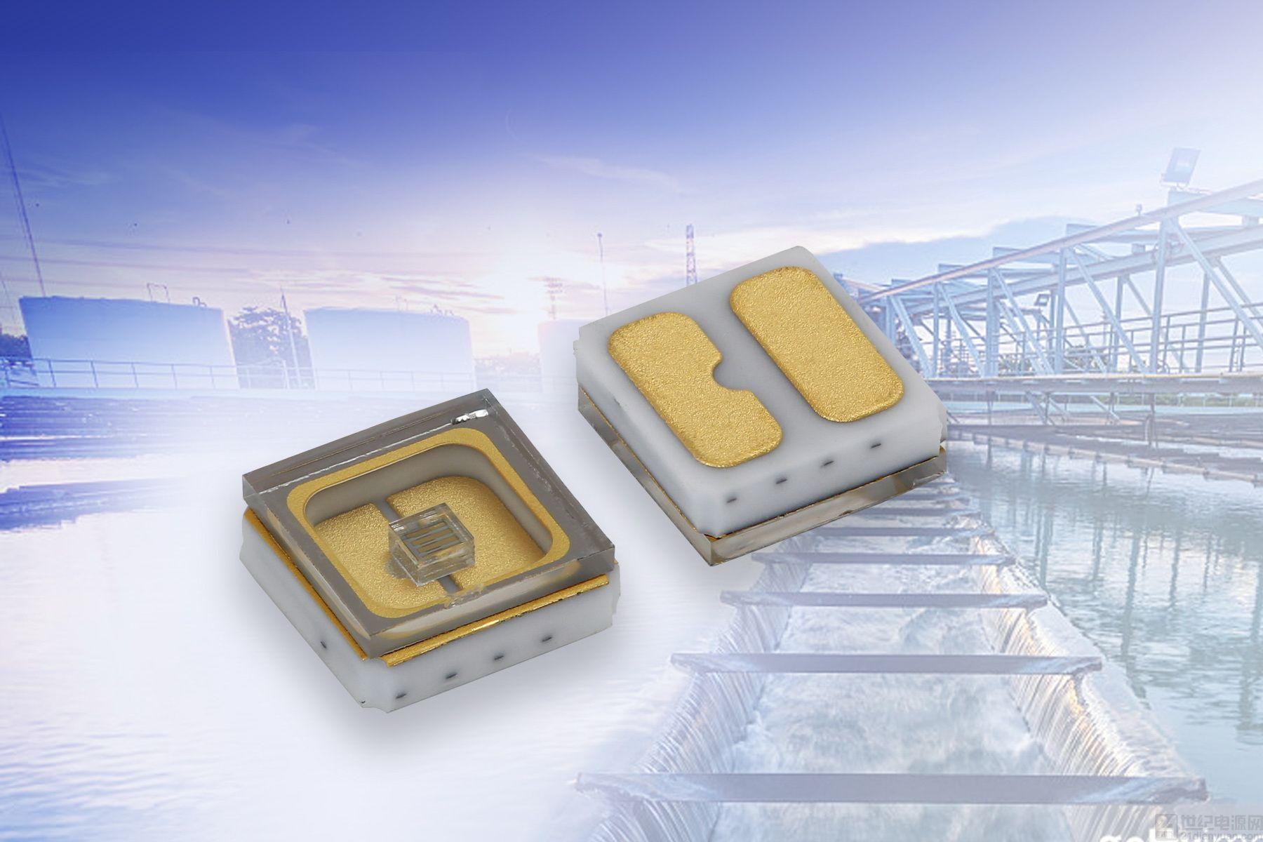 Vishay 推出用于消毒和净化等应用的超长寿命小型表面贴 UVC 发光二极管