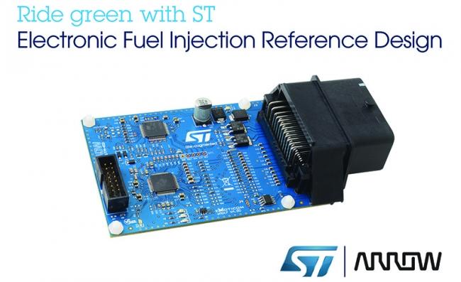 意法半導體和艾睿電子聯合發布符合小型發動機排放新規的電子燃油噴射參考設計方案