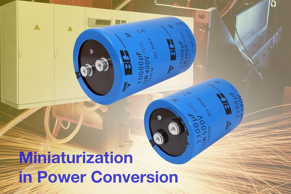 Vishay 推出的新系列螺絲接頭鋁電容器具有更大的容量和更加出色的紋波電流處理能力