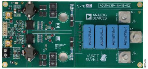 將 ADuM4135 柵極驅動器與 Microsemi APTGT75A120T1G 1200 V