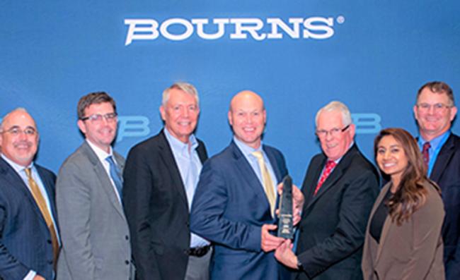 贸泽荣获 Bourns 颁发的 2018 年度最佳电子商务分销商荣誉