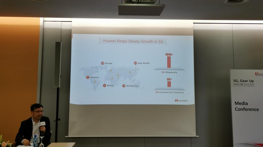 华为全球已获 60 多份 5G 商用合同 发货超 40 万个 5G 基站
