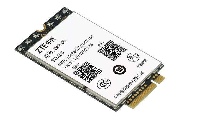中兴 5G 模组打通 5G NSA/SA 网络数据业务