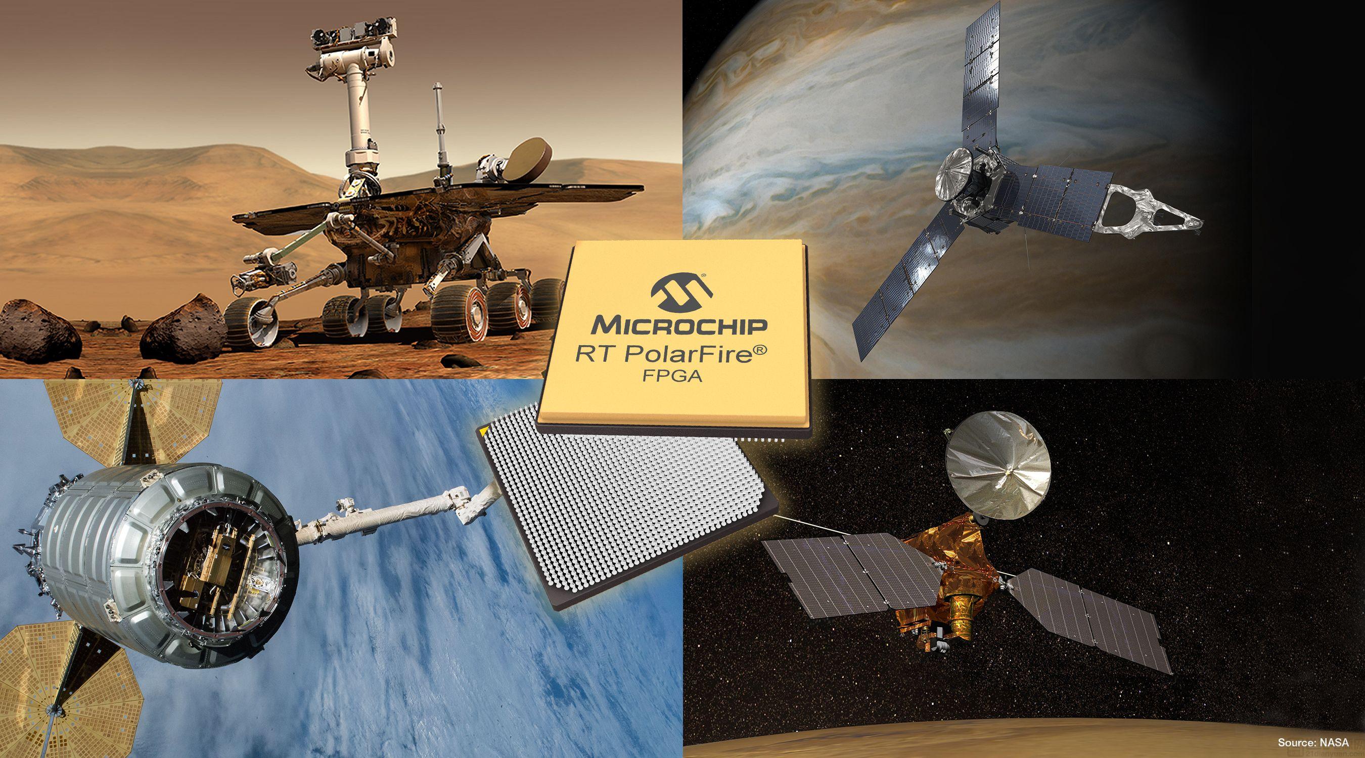 Microchip推出低功耗耐輻射(RT)PolarFire® FPGA,助力客戶以更低的系統總成本