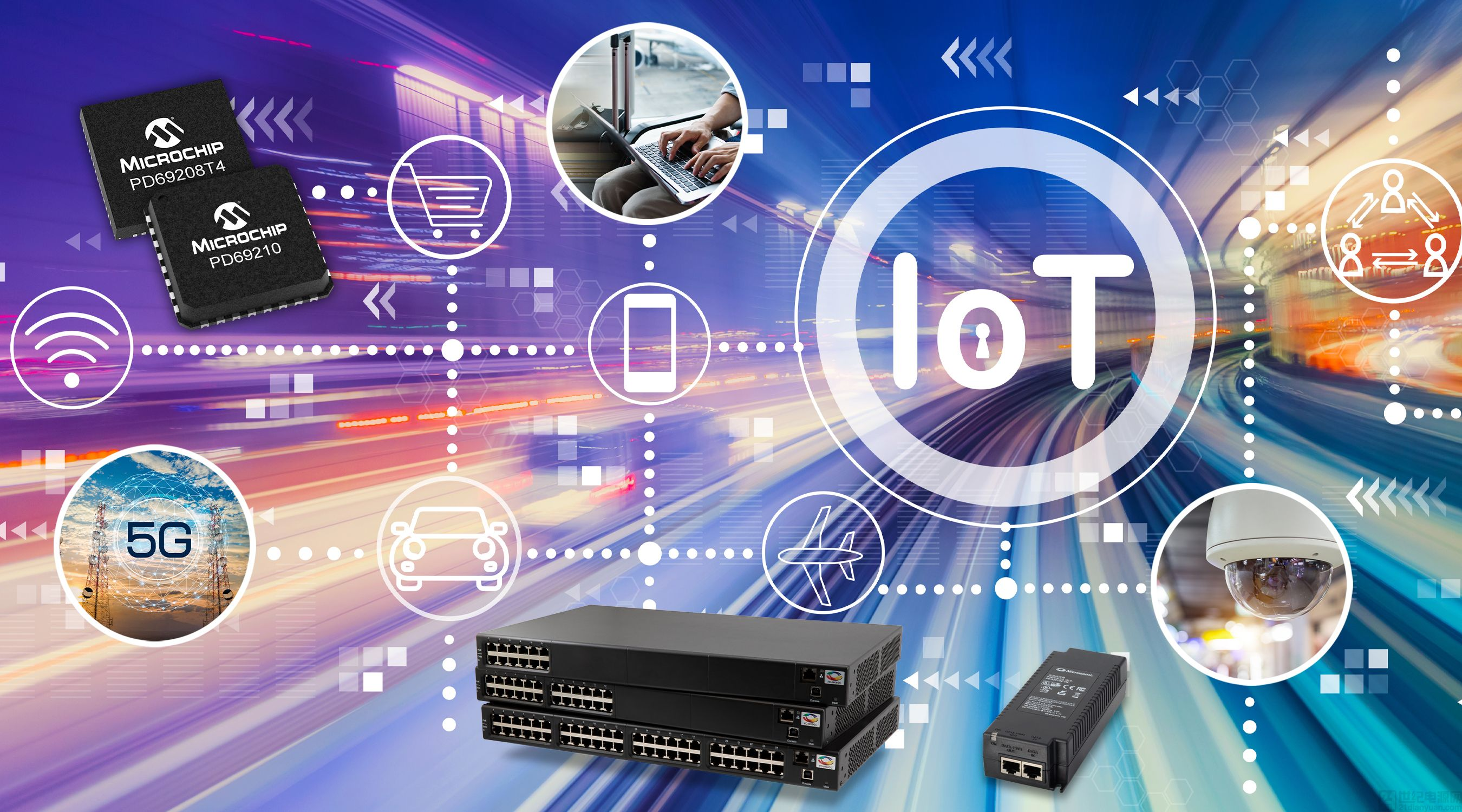 Microchip 推出全新以太網供電產品,解決 90W 以太網供電 (PoE) 布線所面臨的互操作