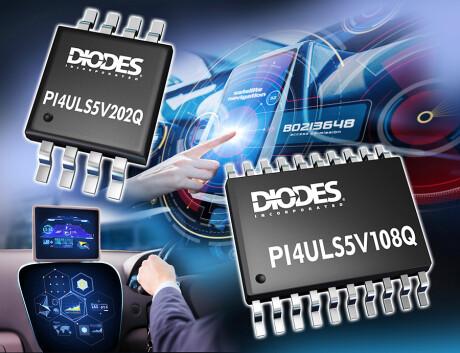 Diodes 公司推出符合汽車規格的電位轉換器,提供高速、彈性、易用的邏輯轉換