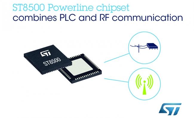 意法半导体经过市场检验的智能表计芯片组新增无线通信功能,提高智能基础设施的灵活性和扩展性