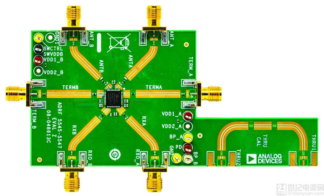 ADI 的 RF 前端系列支持实现紧凑型 5G 大规模 MIMO 网络无线电