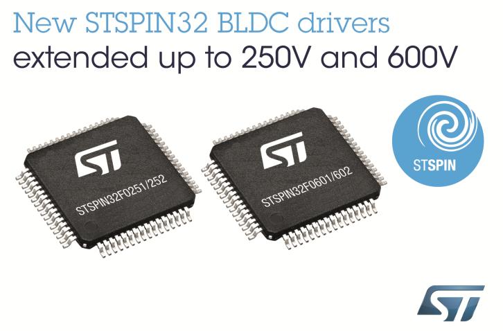 STSPIN32 BLDC 电机驱动器简化高压 BLDC 设计流程