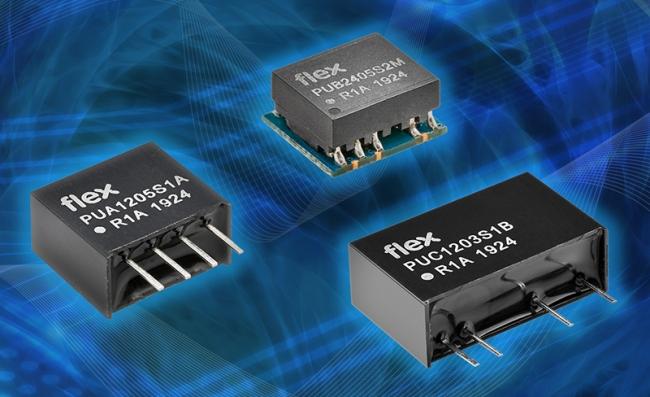 Flex 电源模块推出面向工业应用的微型 DC-DC 转换器