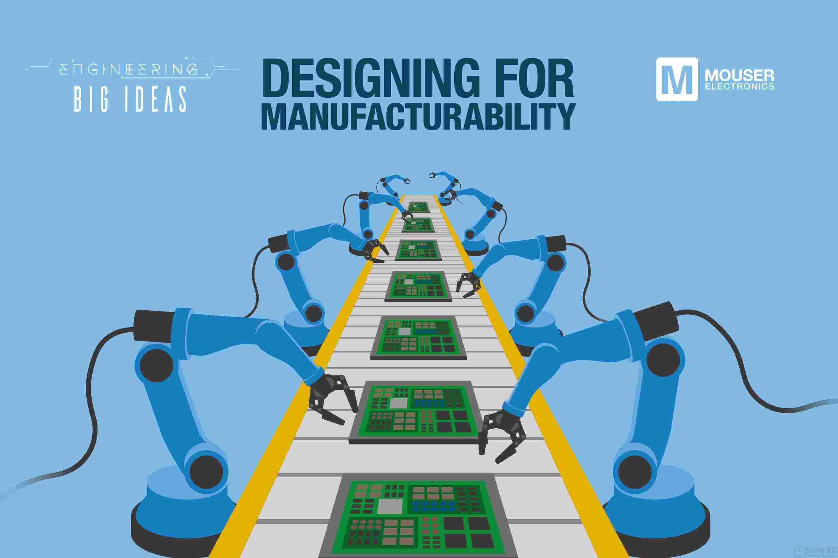 貿澤電子的《讓創意走進現實》系列推出新一期電子書探索面向制造的設計階段所面臨的挑戰