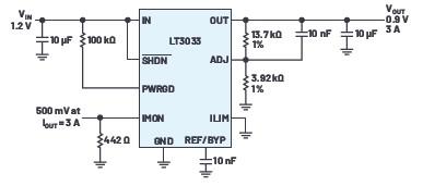 提高極低壓差穩壓器輸出電流,實現均勻散熱的并聯設計